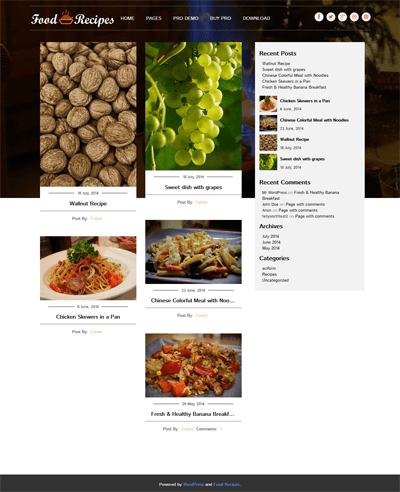 Foodrecipes rarthemes foodrecipes theme screenshots forumfinder Choice Image